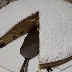 Torta con crema e cioccolata nutella