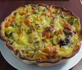 Torta di verdure-porro-zucca-patate-broccoletti-torta salata-ricetta